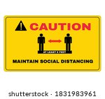 virus prevention signs ... | Shutterstock .eps vector #1831983961