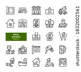 real estate related simple...   Shutterstock .eps vector #1832002561