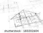 architectural project of new... | Shutterstock . vector #183202604