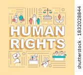 human rights word concepts...