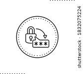 reset password vector icon in... | Shutterstock .eps vector #1832075224