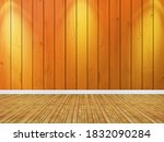 orange wood planks wall and...   Shutterstock . vector #1832090284