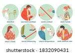 protective prevention measures... | Shutterstock .eps vector #1832090431