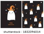 funny halloween party vector... | Shutterstock .eps vector #1832096014