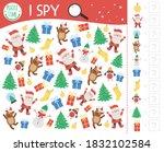 christmas i spy game for kids....   Shutterstock .eps vector #1832102584