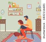 birth position for pregnant... | Shutterstock .eps vector #1832116681