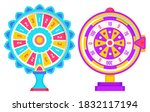 set of fortune weels with...   Shutterstock .eps vector #1832117194