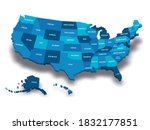 map of united states of america ... | Shutterstock .eps vector #1832177851