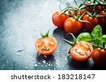 Fresh Grape Tomatoes With Basi...