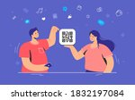 qr code multipurpose usage.... | Shutterstock .eps vector #1832197084
