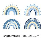 collection of hand drawn winter ... | Shutterstock . vector #1832210674