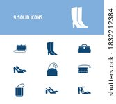 Shoes Icon Set And Half Moon...