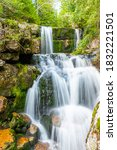 waterfall of jedlova. small... | Shutterstock . vector #1832221501