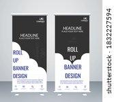 creative cloud concept roll up... | Shutterstock .eps vector #1832227594
