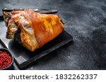 Roast Pork Knuckle With Pink...