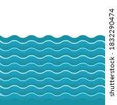 water waves. illustration... | Shutterstock . vector #1832290474
