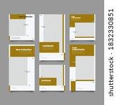 set 6 of social media network... | Shutterstock .eps vector #1832330851