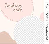creative vector beauty fashion... | Shutterstock .eps vector #1832332717