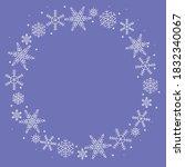 circular blue frame  white... | Shutterstock .eps vector #1832340067