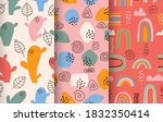 hand drawn abstract pattern... | Shutterstock .eps vector #1832350414
