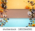 set of halloween poster and... | Shutterstock .eps vector #1832366581