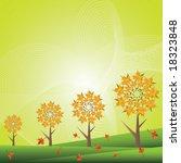 autumn background vector | Shutterstock .eps vector #18323848