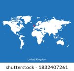 vector map of the united kingdom | Shutterstock .eps vector #1832407261