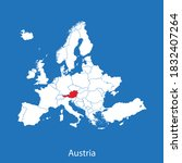 vector map of the austria | Shutterstock .eps vector #1832407264