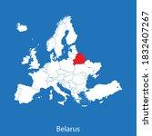 vector map of the belarus | Shutterstock .eps vector #1832407267