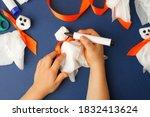 Boy Makes Halloween Toys Ghost...