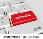 word complaint is written on a...   Shutterstock . vector #1832415301
