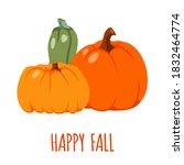 Happy Fall. Colorful Postcard...