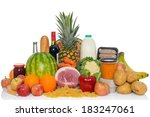 groceries studio shot of fresh... | Shutterstock . vector #183247061
