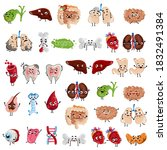 human body organs set. isolated ... | Shutterstock .eps vector #1832491384
