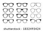 set of glasses. glasses icon... | Shutterstock .eps vector #1832493424