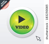play video sign icon. player...