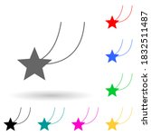 falling star multi color style...