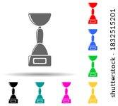 cup multi color style icon....