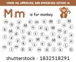 dot or color letter m. alphabet ... | Shutterstock .eps vector #1832518291