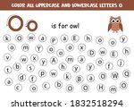 find and color all letters o.... | Shutterstock .eps vector #1832518294
