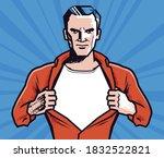 Businessman Rips His Shirt....