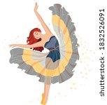 beautiful girl ballerina in...   Shutterstock .eps vector #1832526091