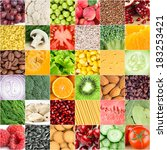 collection of healthy fresh... | Shutterstock . vector #183253421