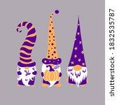 three cute scandinavian... | Shutterstock .eps vector #1832535787