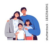 happy family. man  a woman and... | Shutterstock .eps vector #1832564041