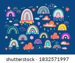 boho girlish collection of... | Shutterstock .eps vector #1832571997