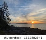 Sunrise Along Rocky Maine Coast ...