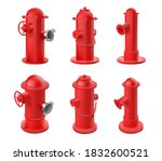 Vector Set Of Red Fire Hydrants ...