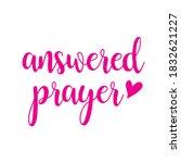 answered prayer  vector...   Shutterstock .eps vector #1832621227