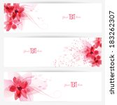 set of banners with colorful... | Shutterstock .eps vector #183262307